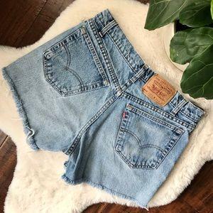 levi's | 555 vintage rib cage denim shorts